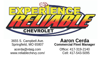 Reliable Chevrolet Card